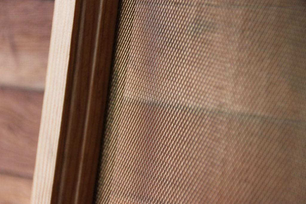 Close Up of Wood Window Screen