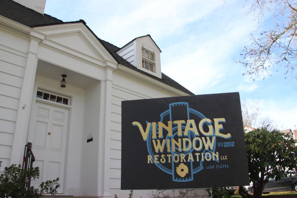 Vintage Window Restoration installing storm sash